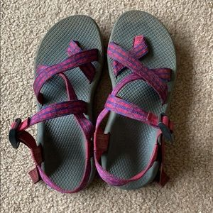 Purple Chacos size 8, worn twice.